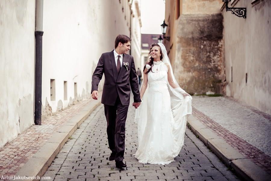 Romantic wedding in Prague