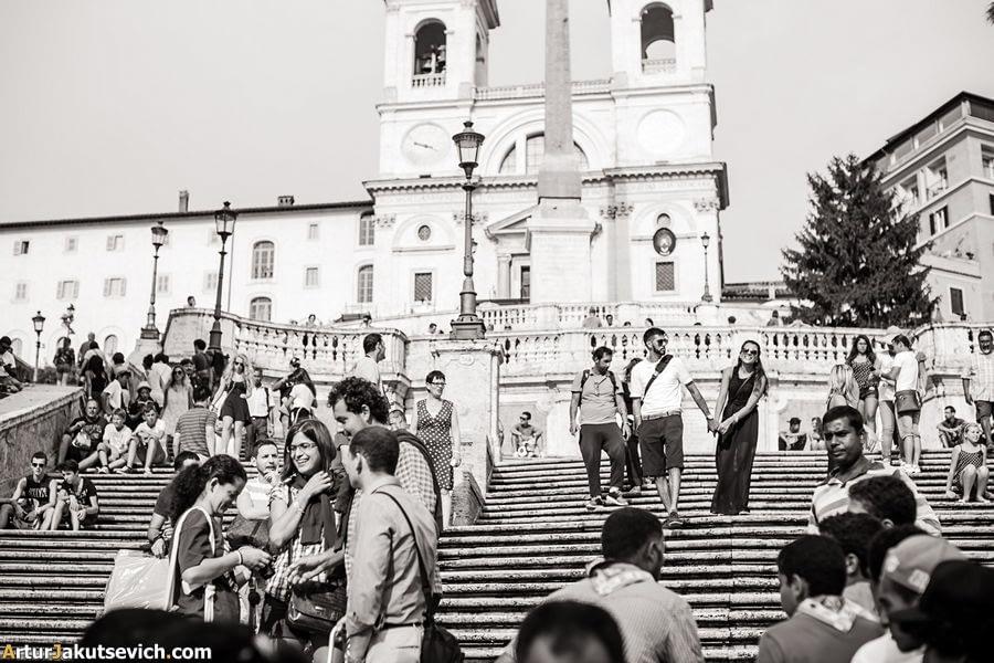 Spanish steps photo