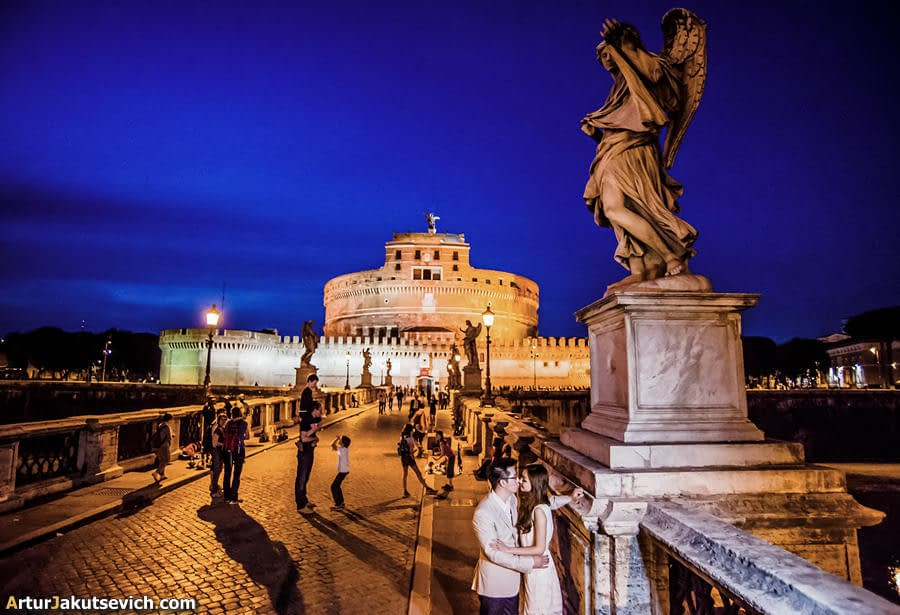Night photo session in Rome