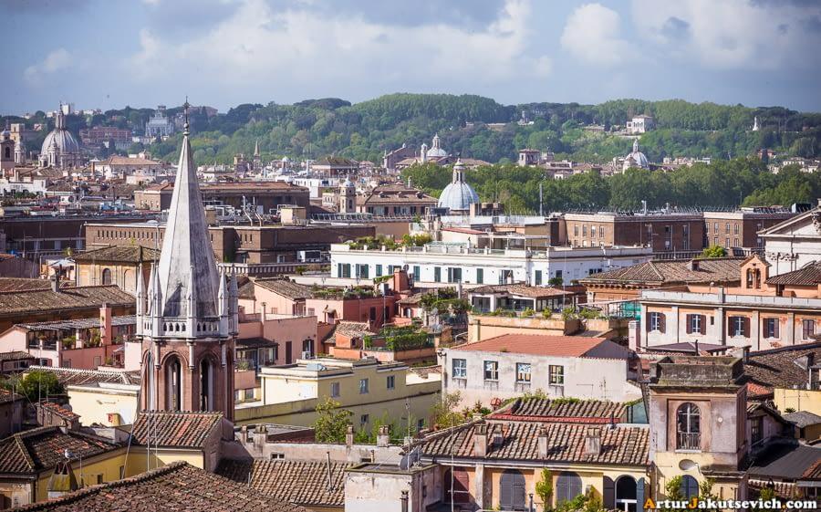 Rome panoramic view