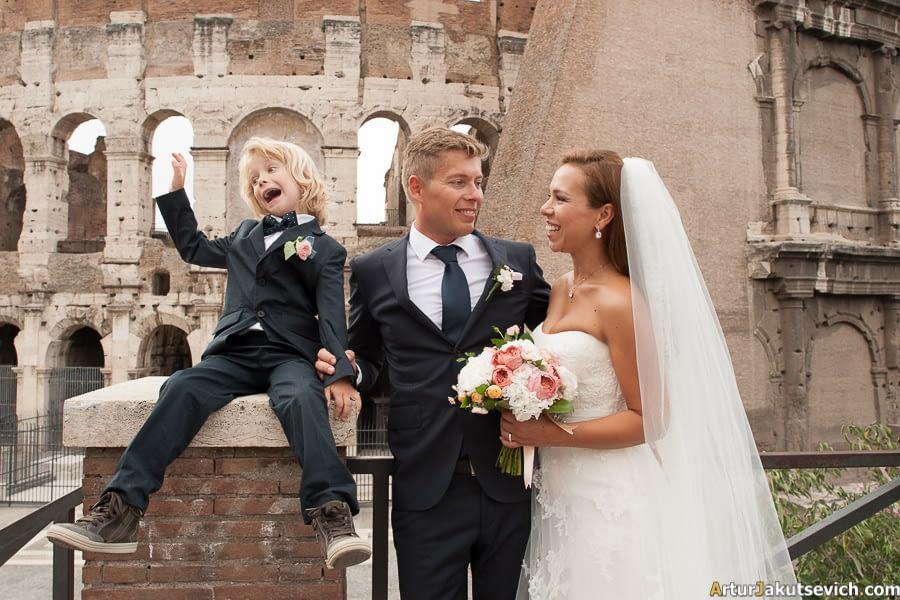 Wedding photos at Coliseum