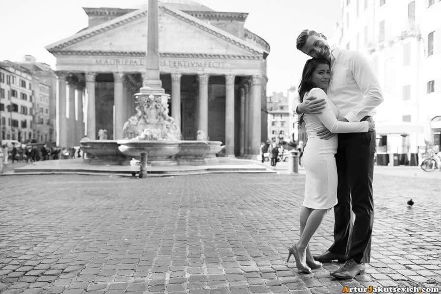 Pre-wedding photography in Rome, Italy