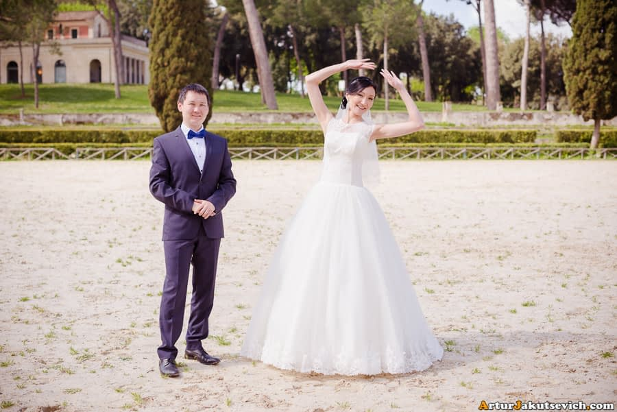 Professional wedding photography in Rome