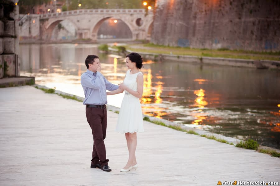 Honeymoon ideas for a photo shooting in Rome