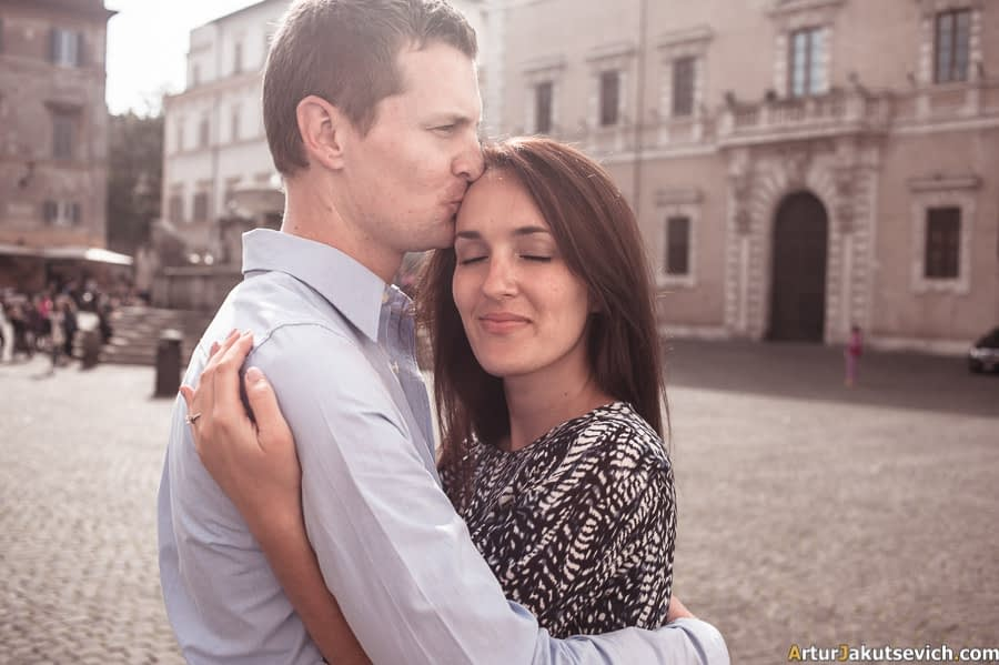 Engagement in Rome and Italy photo shooting