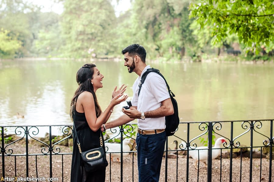 How to make a surprising engagement?