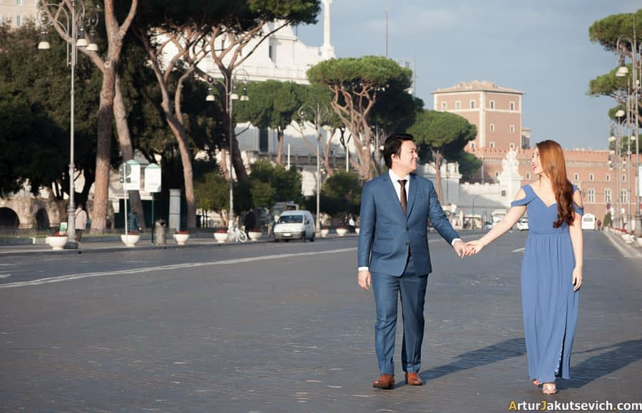 Honeymoon photo in Italy