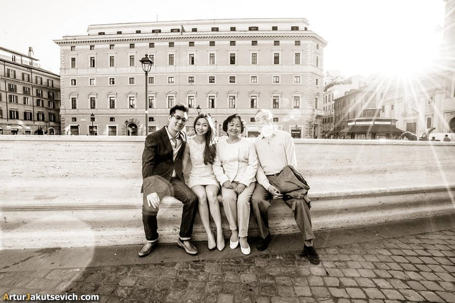 Family photography in Italy and Rome