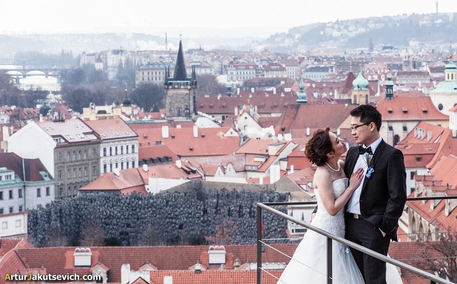 Prague Castle panoramic views photo