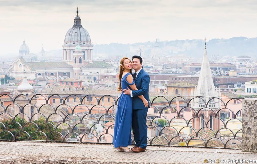 Honeymoon in Rome photo shooting