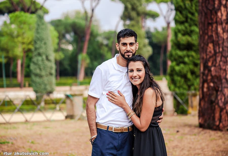 Surprising engagement in Rome