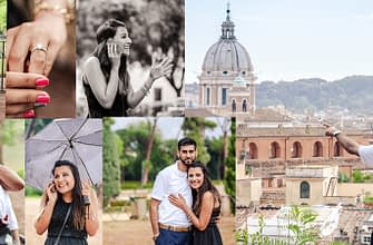 Engagement in Rome Ricky Pallavi