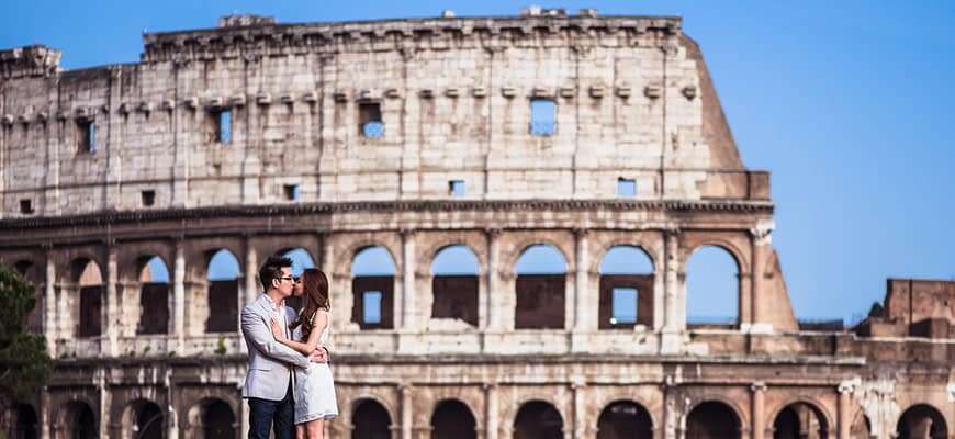 Engagement in Italy Rome May